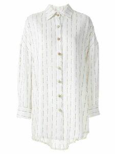 Framed Pukhet elongated shirt - NEUTRALS