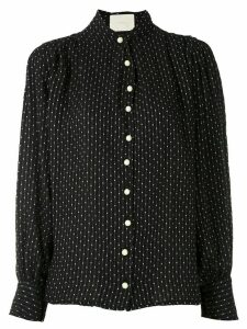 Framed Point Sprit polka dots shirt - Black