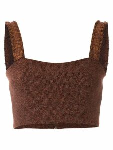 Framed Match cropped top - Brown