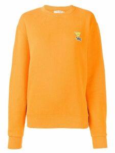 Maison Kitsuné appliqué logo sweatshirt - ORANGE