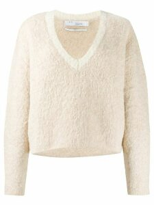 IRO relaxed-fit long sleeve jumper - NEUTRALS