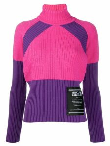 Versace Jeans Couture colour block jumper - PINK