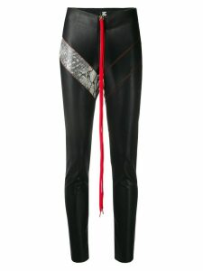 Mia-iam shoestring zip leggings - Black