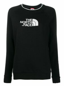 The North Face logo print sweatshirt - Black