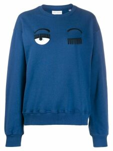 Chiara Ferragni Flirting embroidered sweatshirt - Blue