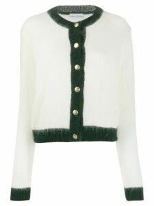 Chiara Ferragni contrast trim cardigan - White