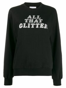Chiara Ferragni All that glitter print sweatshirt - Black