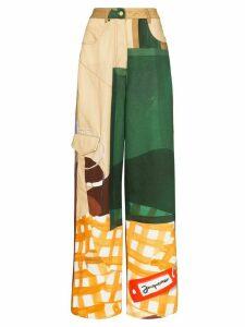 Jacquemus Le jean de Nîmes patch jeans - NEUTRALS