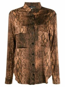 Andamane snake-print shirt - Brown