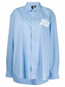Mia-iam oversized logo shirt - Blue