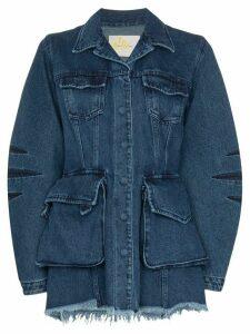 Marques'Almeida multi-pocket denim jacket - Blue