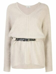 Co belted jumper - NEUTRALS