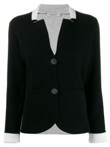 La Fileria For D'aniello narrow collar cardigan - Black