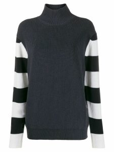 Paul Smith striped sleeve jumper - Blue