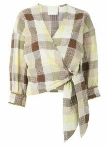 Framed Madeleine wrap blouse - Multicolour