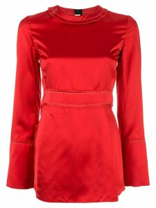 Marni peplum hem satin blouse - Red