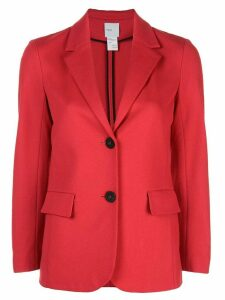 Rosetta Getty cropped sleeve jacket - Red