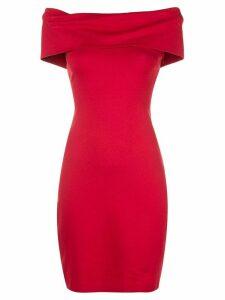 Rosetta Getty banded off-shoulder dress - Red