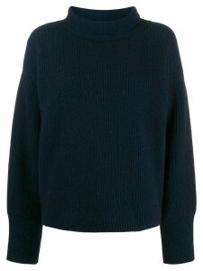 Maison Kitsuné knit roll neck jumper - Blue