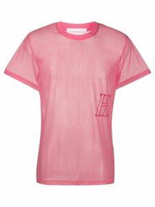 Helmut Lang H logo T-shirt - PINK