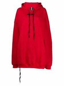 Mia-iam oversized back zip hoodie - Red
