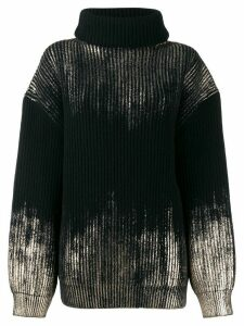 Ann Demeulemeester metallic knit jumper - Black