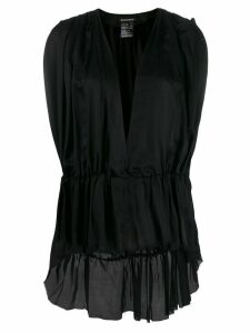 Ann Demeulemeester deep V-neck blouse - Black