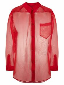 Escada sheer loose-fit silk shirt - Red