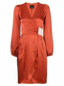 Cynthia Rowley Annabelle charmeuse wrap dress - Red