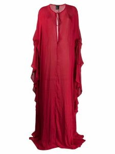 Ann Demeulemeester tie neck dress - Red
