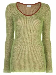Salvatore Ferragamo two-tone jumper - Green