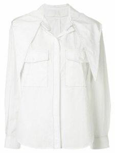 Maison Kitsuné White Lavalliere Shirt