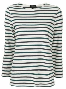 A.P.C. long-sleeve striped T-shirt - White