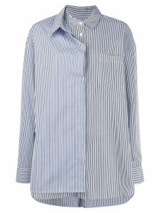 Juun.J long sleeved cotton shirt - Blue