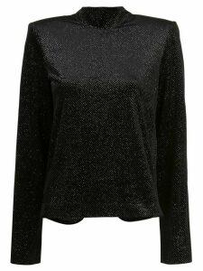 RtA glittery mock-neck top - Black