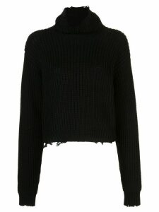 RtA ribbed roll-neck jumper - Black