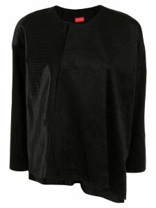 Des Prés asymmetric long-sleeve top - Black