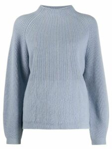 Peserico chain trim mock neck sweater - Blue