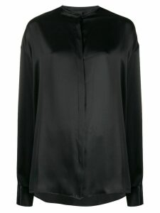 Haider Ackermann oversized mandarin collar shirt - Black