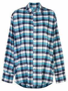Natasha Zinko check-print oversized shirt - Blue