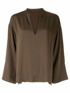 Des Prés long-sleeved flared top - Green