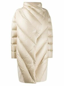 Peserico oversized quilted wrap coat - NEUTRALS