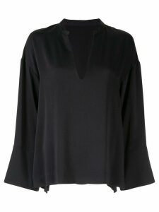 Des Prés long-sleeved flared top - Black