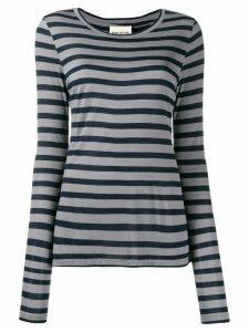 Semicouture striped stretch jersey top - Black
