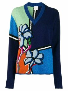 Paul Smith Artist Studio pattern jumper - Blue
