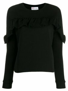 Red Valentino ruffled detail sweatshirt - Black