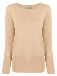 N.Peal deep rib jumper - Brown