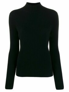 N.Peal funnel neck ribbed jumper - Black