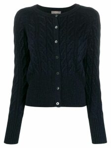 N.Peal cable knit cardigan - Blue