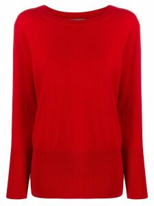 N.Peal deep rib jumper - Red
